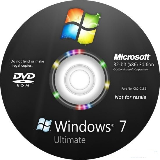 Windows 7 - Ultimate OEM Genuine Hebrew32Bit